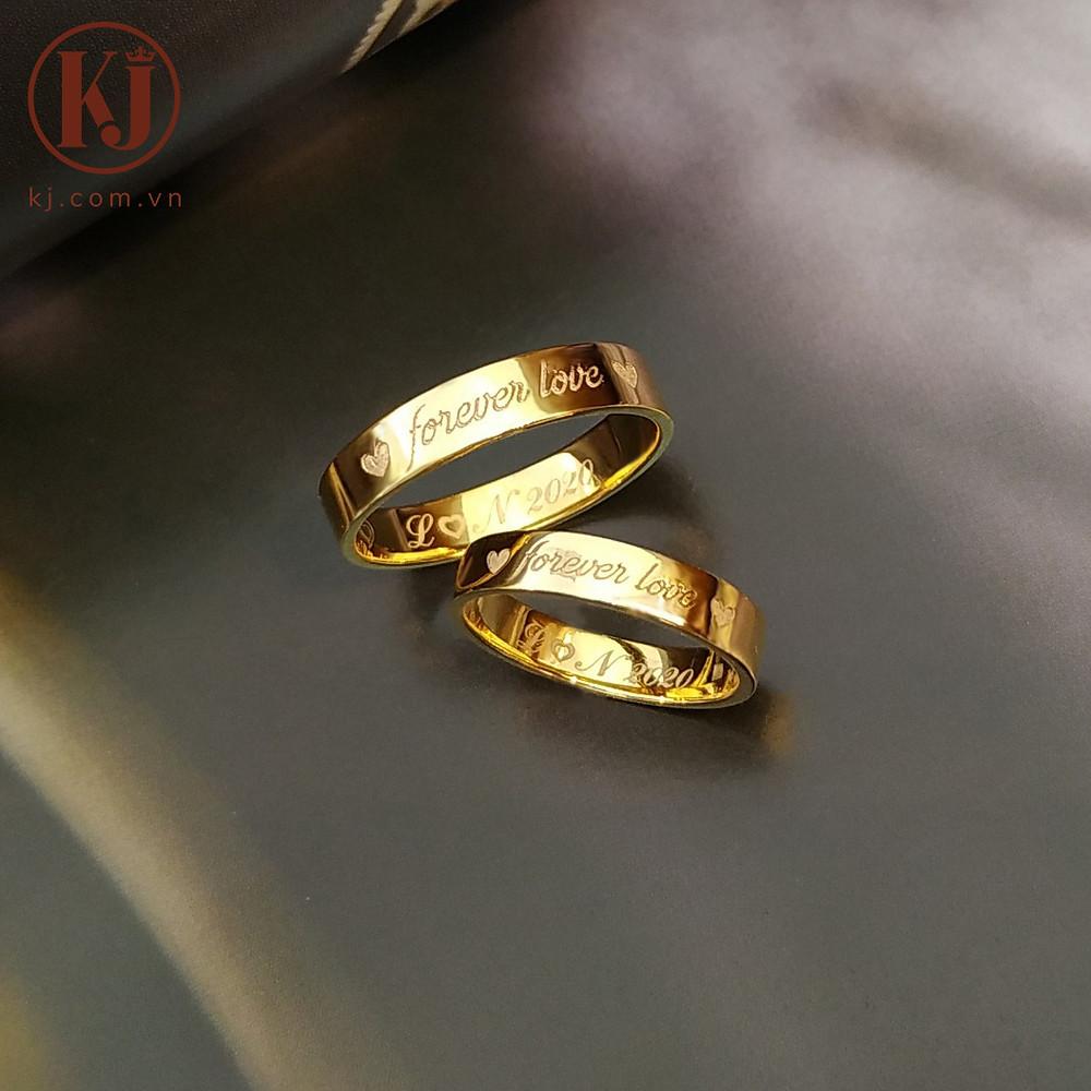 Nhẫn cưới ý nghĩa với cụm từ Forever love