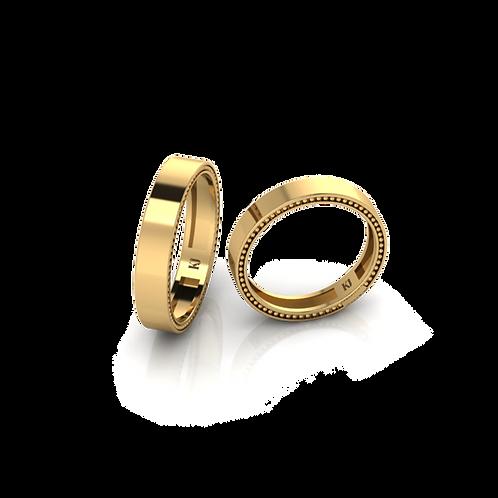 Nhẫn cưới trơn không đá KJW0286