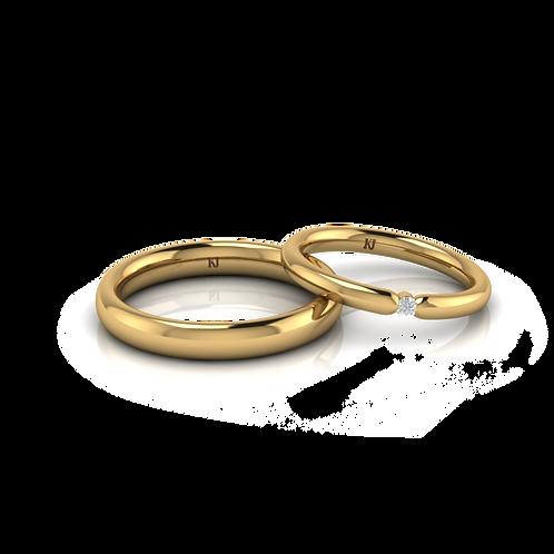 Nhẫn cưới tròn trơn KJW0136 M2