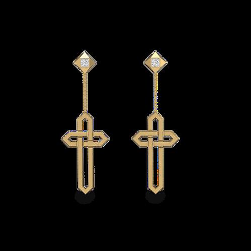 Khuyên tai chữ thập KJE0683M1
