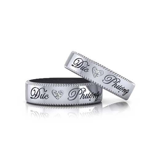 Nhẫn cưới theo tên KJW0135