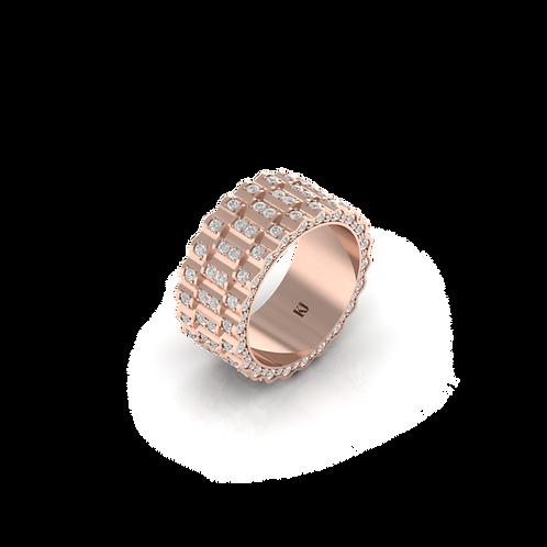 Nhẫn nam kim cương xếp lớp KJM0701