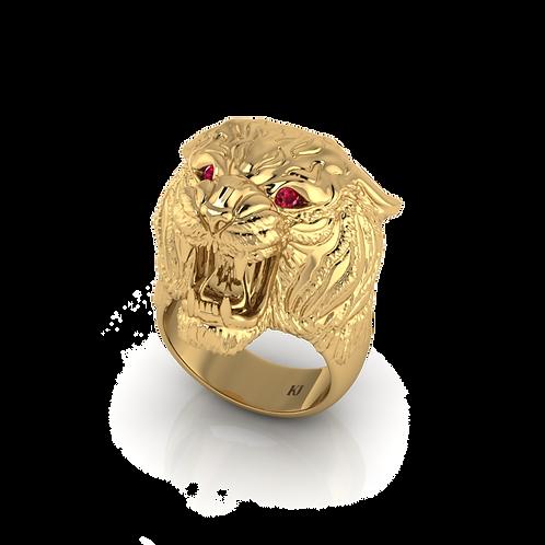 Nhẫn nam đầu hổ thiết kế KJM0579