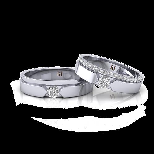 Nhẫn cưới thiết kế cao cấp KJW0193