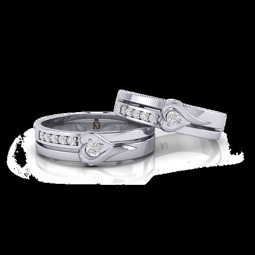Nhẫn cưới trái tim KJW0172