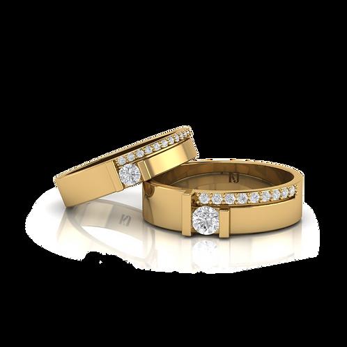 Nhẫn cưới kim cương thiết kế KJW0367