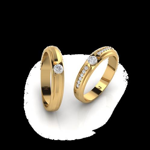 Nhẫn cưới thiết kế KJW0158
