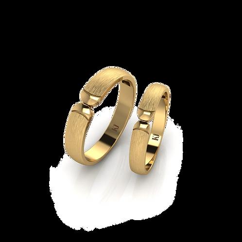 Nhẫn cưới trơn không đá KJW0287