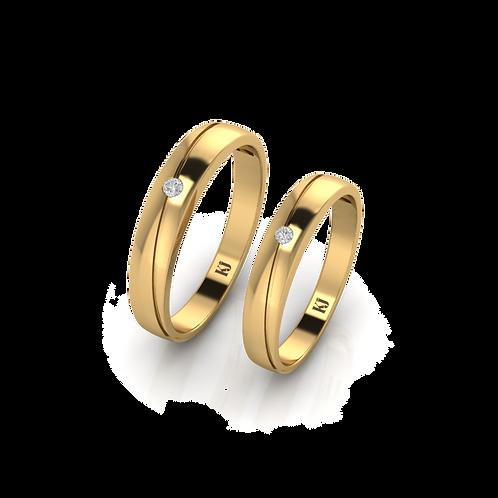 Nhẫn cưới đơn giản KJW0115