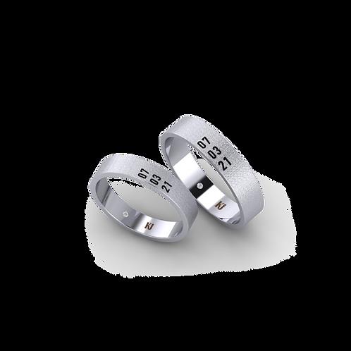 Nhẫn cưới trơn KJW0360M2
