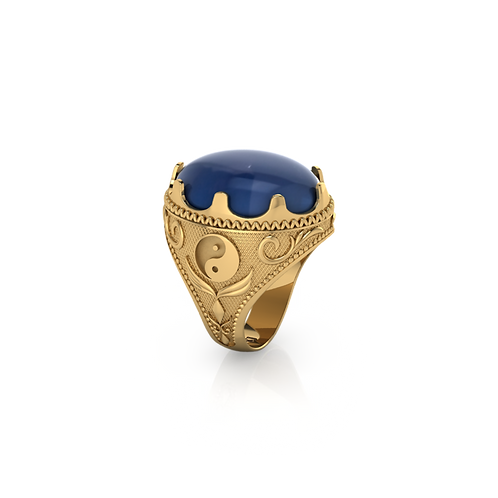 Nhẫn nam đá phong thủy KJM0705