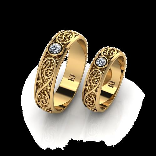 Nhẫn cưới Châu Âu phong cách Hoàng Gia KJW0043