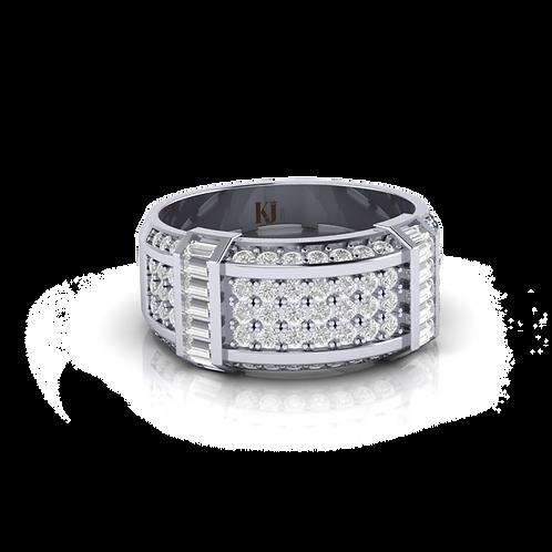 Nhẫn nam kim cương thiết kế KJM0596