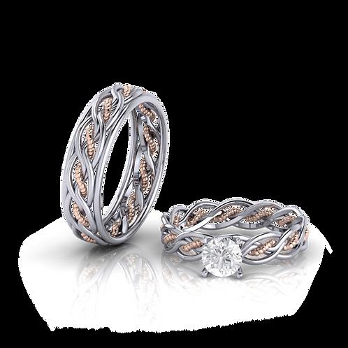 Nhẫn cưới vặn thừng KJW0170