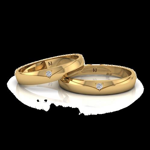 Nhẫn cưới thiết kế KJW0116