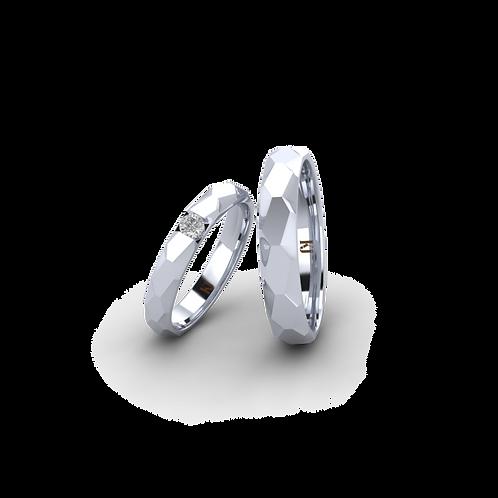 Nhẫn cưới trơn KJW0306