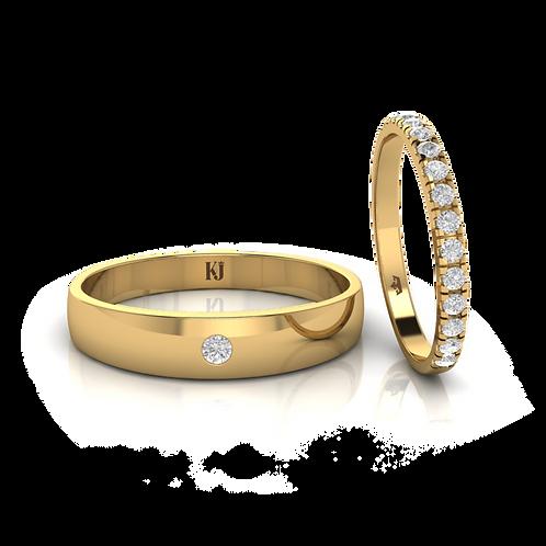 Nhẫn cưới thiết kế KJW0100