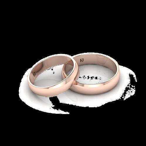 Nhẫn cưới tròn trơn KJW0136M1