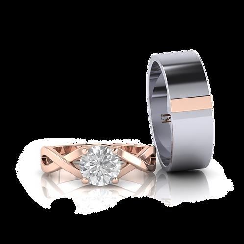 Nhẫn cưới thiết kế Only Love KJW0200