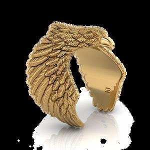 Nhẫn Đại bàng thiết kế cánh ôm trọn ngón tay, phù hợp đeo ngón trỏ hoặc ngón giữa