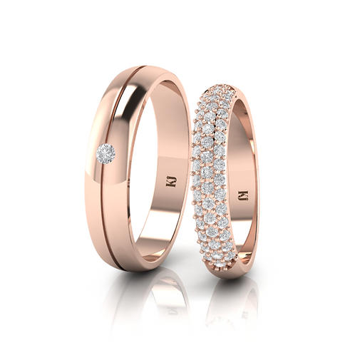 Nhẫn cưới thiết kế KJW0109