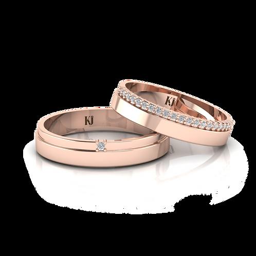 Nhẫn cưới thiết kế KJW0157