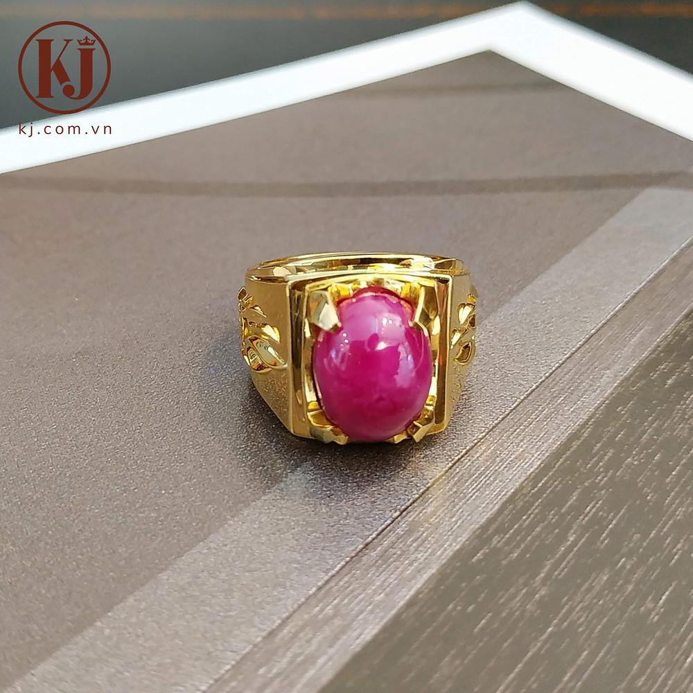 Nhẫn vàng đính đá Ruby