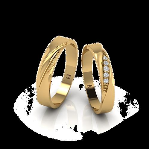 Nhẫn cưới thiết kế KJW0379