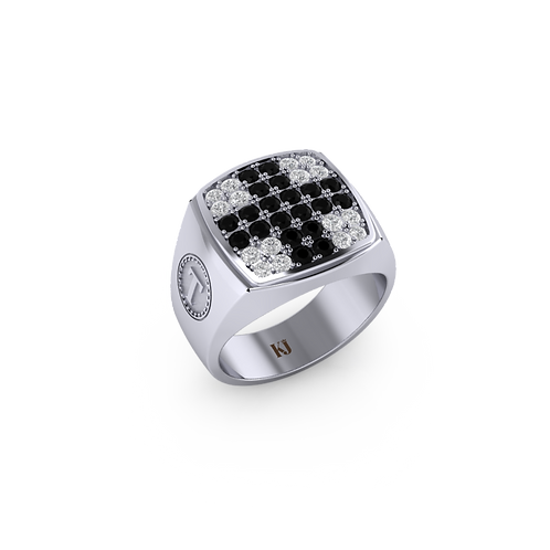 Nhẫn nam mặt đá đơn giản KJM0716