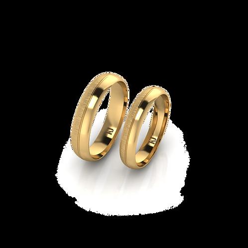 Nhẫn cưới trơn xước ngang KJW0280