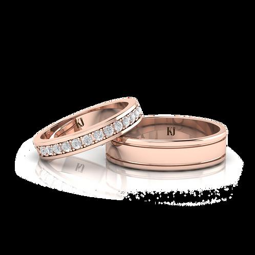 Nhẫn cưới thiết kế KJW0252