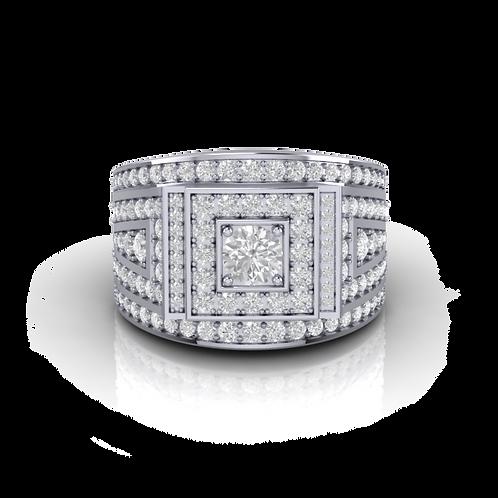 Nhẫn nam kim cương KJM0589