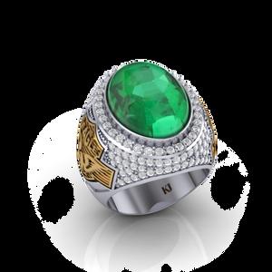 Nhẫn Đại Bàng đính đá Emerald