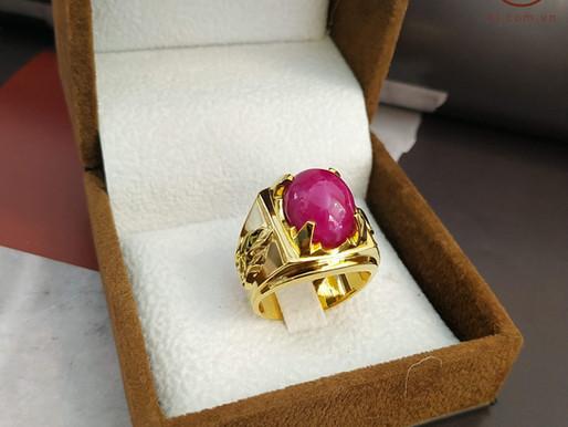 Nhẫn nam thiết kế và chế tác dựa trên viên đá có sẵn của khách hàng Đạt Nguyễn ( Quảng Ninh)