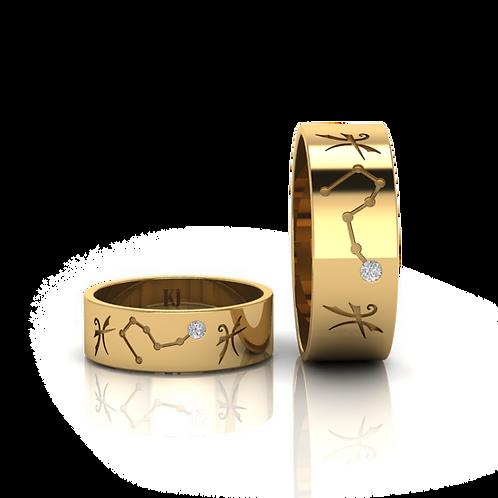 Nhẫn cưới cung hoàng đạo KJW0179
