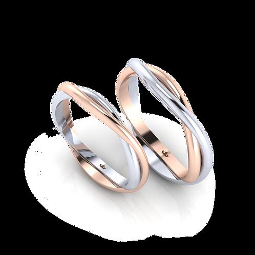 Nhẫn cưới sóng nước KJW0264