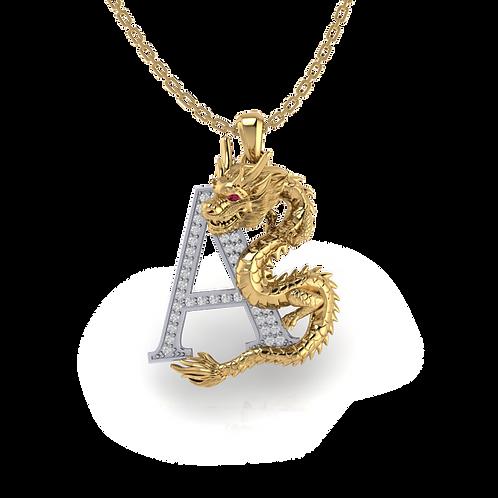Mặt dây Hải Long Vương cuộn chữ A  KJP0358