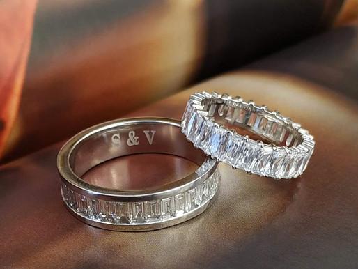 Có nên đeo nhẫn cưới đính đá hay không ?