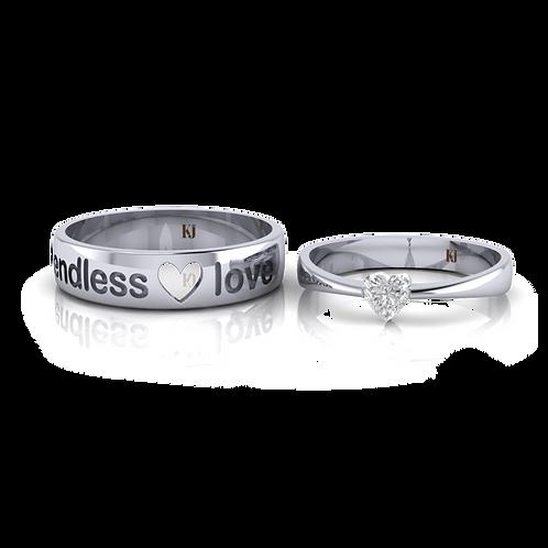 Nhẫn cưới thiết kế Endless Love KJW0150