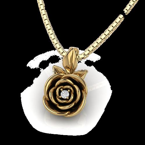 Mặt dây hoa hồng Rose KJP0355