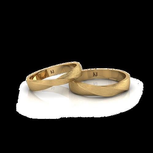 Nhẫn cưới trơn xoắn KJW0284