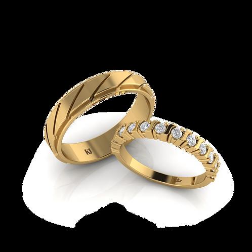 Nhẫn cưới vàng son KJW0227