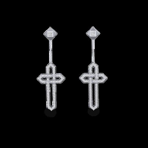 Khuyên tai chữ thập KJE0683M2
