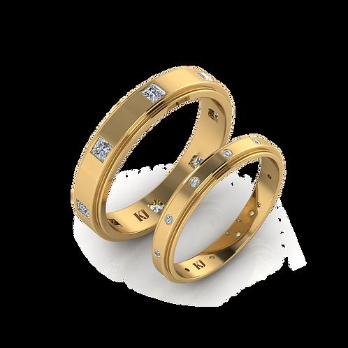 Nhẫn cưới thiết kế KJW0148
