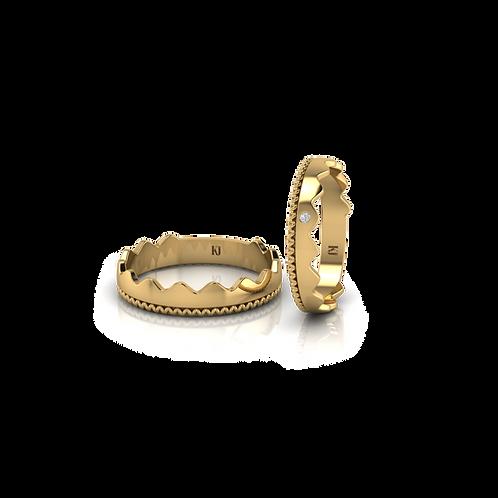 Nhẫn cưới vương miện trơn KJW0281