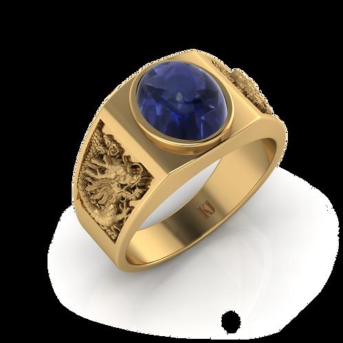 Nhẫn nam Bảo Long Saphire KJM0267
