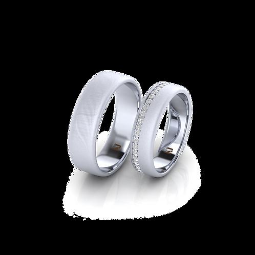 Nhẫn cưới xước nhám KJW0301