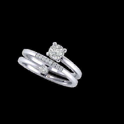 Nhẫn nữ đẹp 2 vòng KJF0522