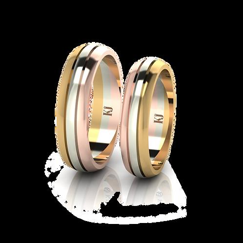 Nhẫn cưới 3 màu KJW0145