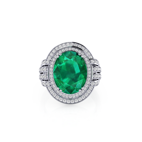 Nhẫn nữ đá xanh KJF0668